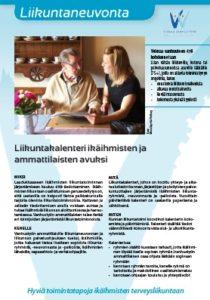 Liikuntakalenteri ikäihmisen ja ammattilaisten avuksi